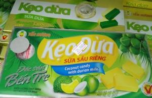 Kẹo dừa sữa sầu riêng Yến Hương 300gr