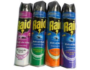 Xịt muỗi côn trùng Raid 600ml
