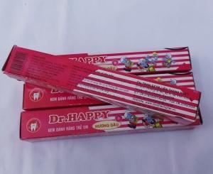 Kem đánh răng trẻ em DR. Happy hương dâu 45gr
