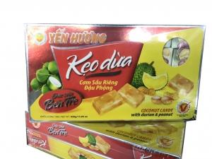 Kẹo dừa cơm sầu riêng đậu phộng Yến Hương 500gr