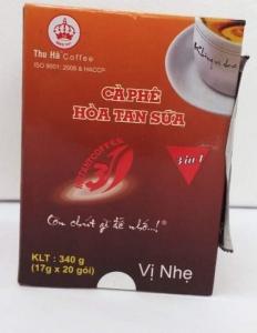Cafe hòa tan sữa Thu Hà 340gr